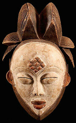 Rarity finest old Punu mask old Germany collection