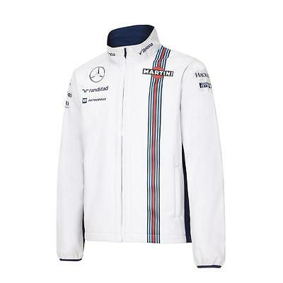 OFFICIAL Williams Martini Racing F1 Soft Shell Jacket Coat WHITE - NEW