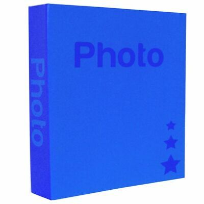 Basic Dark Blue 6.5x4.5 Slip In Photo Album - 200 Photos Overall Size 10.5x8.25