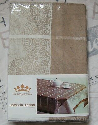 """Linen flax tablecloth and 6 napkins """"Milan"""""""