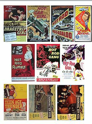 Hot Rod Posters Set Of 10 Flexible Thin Fridge Magnets  Birthday Dad Grandad 1