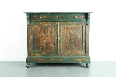 Vintage French Painted Pine Cabinet Cupboard Dresser #1936