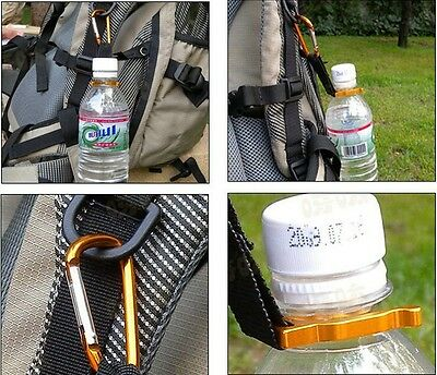 Buckle Water Bottle Holder Hook Carabiner Clip Camping Hiking Outdoor Webbing
