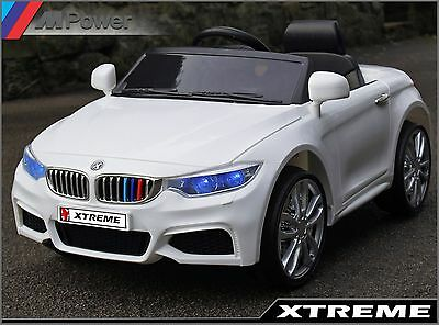 Kids Xtreme 12V White Ride on BMW 4 Series M4 Style Car Battery Powered Electric