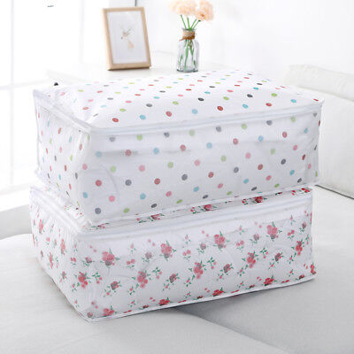 PEVA plastic Storage Bag Cloth Quilt Duvet Blanket Closet Sweater Organizer Box