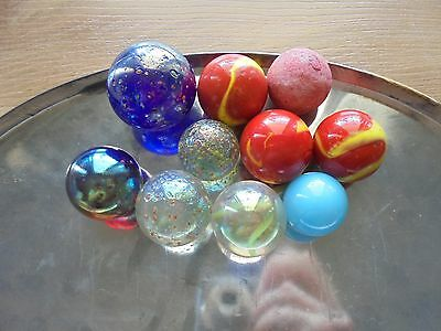 USED lot of 10 interesting marbles!_WOAH!!!!!!!!_ships from AUS!_xx49_A4a117