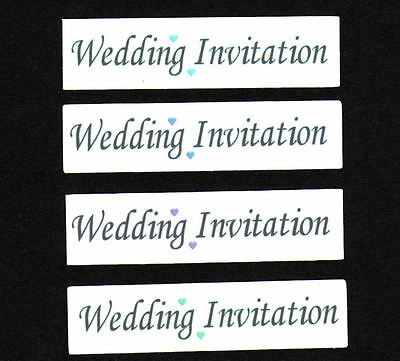 Wedding Invitation Craft Sentiments for DIY Make Your Own Wedding Stationery