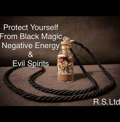 Protection Pendant 4cm Ghosts Black Magic Witchcraft Spell Wicca Pagan Curse Hex