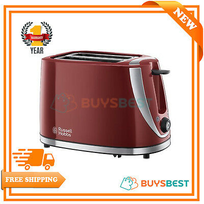 Russell Hobbs Mode 2 Slice Toaster with Reheat / Defrost Function in Red - 21411