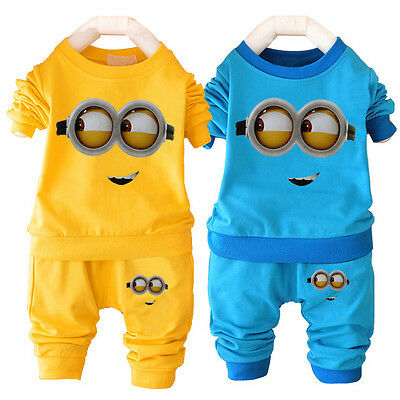 NEW!Baby boy MINION 2 pcs clothing set outfit 12-18/18-24 month YELLOW/BLUE