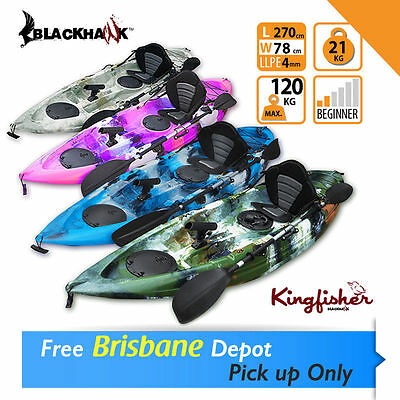 2.7M Single Sit-On Fishing Kayak Package Brisbane North