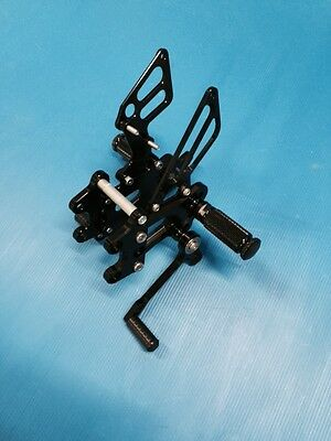 aluminium rearsets for KTM RC 8 R color black new