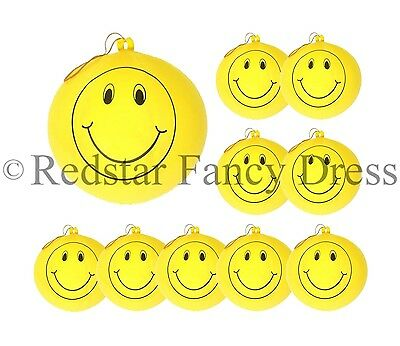 30 x LARGE SMILEY PUNCH BALLOONS PARTY BAG FILLERS CHILDRENS LOOT BAGS TOYS