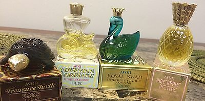 Vintage Avon Perfume And Bottles Lot Of 4
