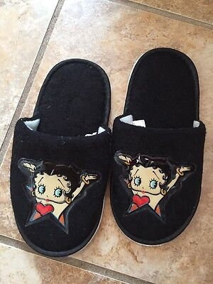 Black Betty Boop Child Slippers Size 13/1--Boop Oop A Doop!! ������
