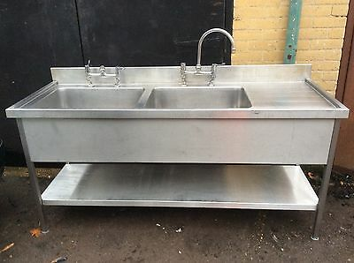 commercial stainless steel sink Double Bowl 1.8 Metre