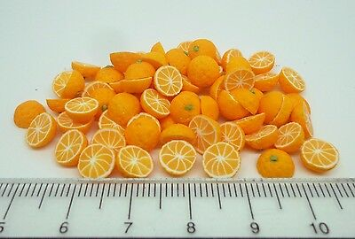 1:12 Scale 12 Halves Oranges Doll House Miniatures Fruit Accessory