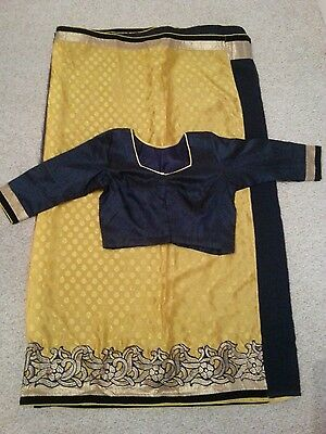 Bnwot Indian Bollywood Soft silk two shade sari with blouse.