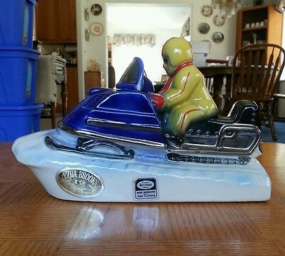 "1972 ""Snowmobile"" Ezra Brooks decanter"