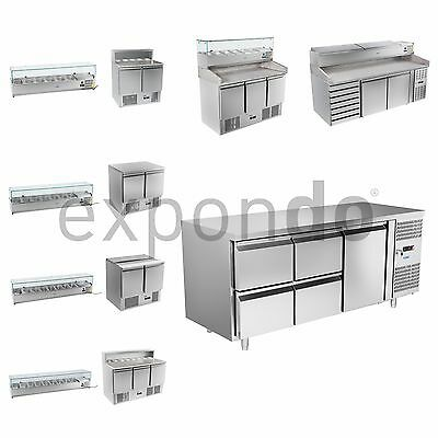 Stainless Steel Refrigerated Pizza Table Automatic Defrosting With Status Led