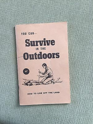 You Can Survive In The Outdoors Book - Wayne Winters