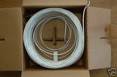 Essex 4 Pair 24 Awg White Cat 3 Cmp Cable - 375 Feet