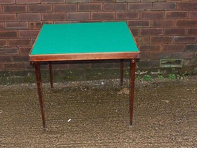 Vintage Vono Style Card Table Fold Away Storage Bridge Games Spare Dining Picnic