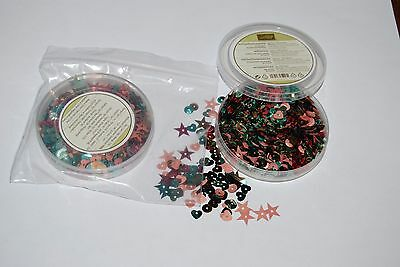 Stampin Up RETIRED  In Color Sequins -  embellishments  - stars, hearts & round