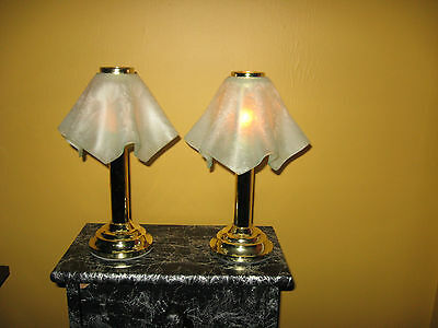Party lite pair of lamp candle holder