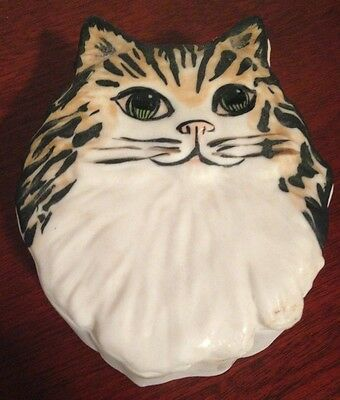 Ceramic Cat Trinket Box