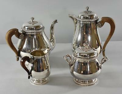 Christofle Silverplate Coffee Pot /  Tea Set Gallia Circa 1940's