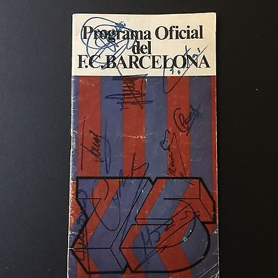 1975 European Cup.Semi-final.FC Barcelona- Leeds. Programme signed by Cruyff...