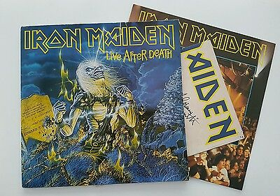 Iron Maiden live after death 2 lp spain complete with poster