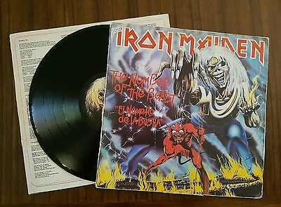 Iron Maiden - The Number Of The Beast LP 1st spanish edition