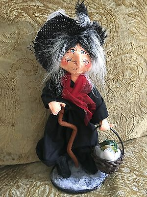 Annalee Halloween Fall Old Hag Witch Doll 10 IN 2013 Frog Eyeball NWT 302013 HTF