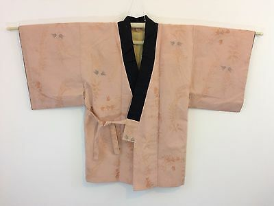 Authentic Japanese hanten jacket, housecoat , salmon colour, Japan import (J985)