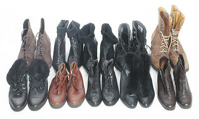 Vintage Wholesale Leather Ankle Boots 10 In Total