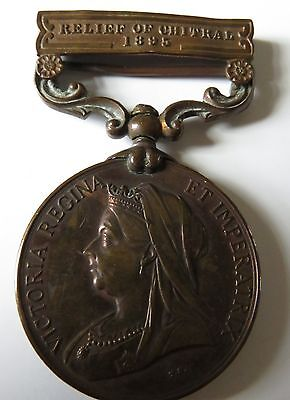 Victorian India Medal Relief Of Chitral 1895 Clasp Transpt.dept.punjab