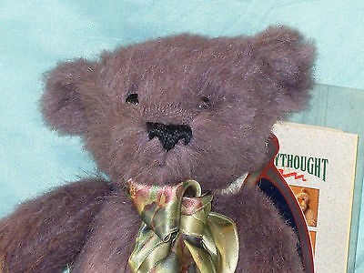 """Limited Edition (488/500) With Tags Merrythought Amethyst Jointed 12"""" Teddy Bear"""