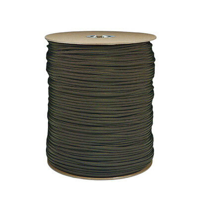 Bulk Paracord Spool 250-1000 ft Olive Drab Wholesale Lot Parachute Cord Rope USA