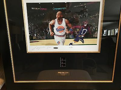 "Michael Jordan ""Tune Squad"" Warner Bros UDA Signed Litho Space Jam !"
