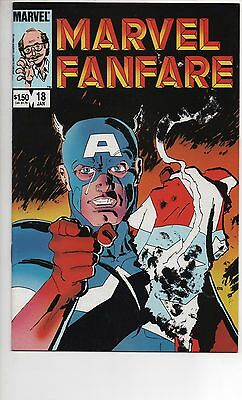 Marvel Fanfare #18 Nm/nm+ 1985 Classic Frank Miller Cover!