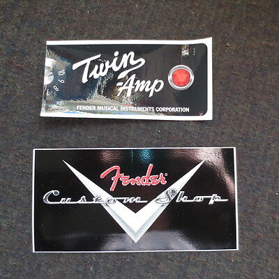 Two vintage Fender amp guitar stickers nice
