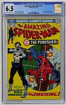 Amazing Spider-Man #129 CGC 6.5 Off-White to White pages! 1st Punisher!