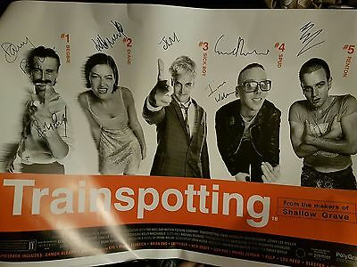 trainspotting fully signed poster