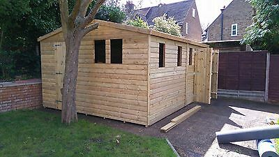 16 x 12 19mm Tanalised pressure treated T&G apex shed workshop