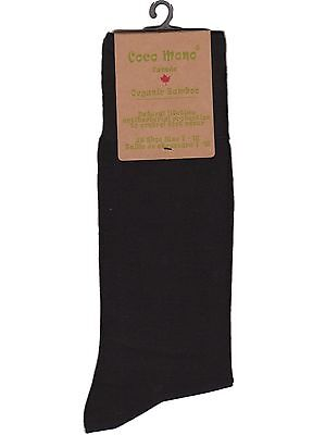 8 Pairs Organic Bamboo Men's Dress Socks -- Colour: Black