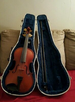 Vintage C. Meisel 6109 4/4 Violin W. Germany (103611) w/ case, bow, wax, etc.