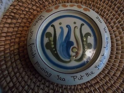 Old Vintage Motto  Ware Teapot Stand