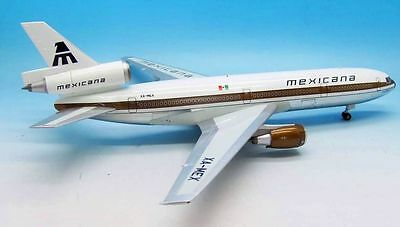 Inflight200 Ifdc101216P 1/200 Mexicana Dc10-10 Xa-Mex Polished With Stand